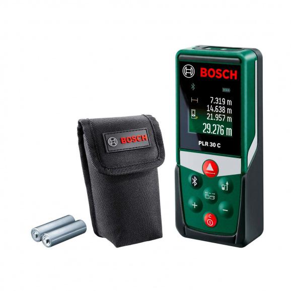 Лазерна ролетка BOSCH PLR 30 C, 0.05-30м, ± 2.0мм