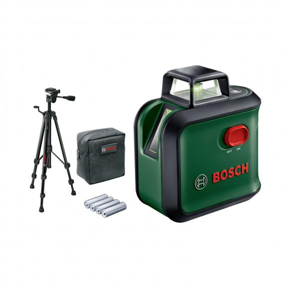 Линеен лазерен нивелир BOSCH AdvancedLevel 360 Set, 3 лазерни линии, 1 точка, точност 4mm/10m, автоматично