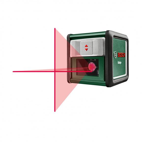 Линеен лазерен нивелир BOSCH Quigo, 2 лазерни линии, точност 8mm/10m, автоматично
