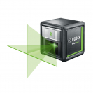 Линеен лазерен нивелир BOSCH Quigo Green, 2 лазерни линии, точност 8mm/10m, автоматично - small, 179807