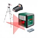 Линеен лазерен нивелир BOSCH Quigo Plus, 2 лазерни линии, точност 8mm/10m, автоматично - small