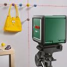 Линеен лазерен нивелир BOSCH Quigo Plus, 2 лазерни линии, точност 8mm/10m, автоматично - small, 179817