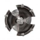 Боркорона с твърдосплавни пластини RITTER 65х550мм, за бетон и зидария, захват SDS-max, сухо пробиване - small, 101697