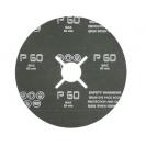 Фибершайба FEN KSF-F 125x22.23мм Р320, за шлайфане на за мрамор, камък и алуминий, черна - small, 40307