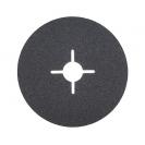 Фибершайба FEN KSF-F 125x22.23мм Р80, за шлайфане на за мрамор, камък и алуминий, черна - small