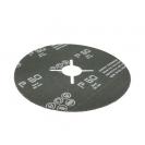 Фибершайба FEN KSF-F 125x22.23мм Р80, за шлайфане на за мрамор, камък и алуминий, черна - small, 40306