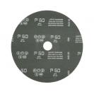 Фибершайба FEN KSF-F 180x22.23мм Р150, за шлайфане на за мрамор, камък и алуминий, черна - small, 40265