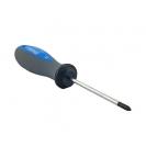 Отверткa кръстата UNIOR PH0 3.0х145/60мм, CrV-Mo, трикомпонентна дръжка - small, 93456