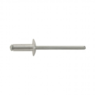 Попнит алуминиев BRALO DIN7337C 4.8x35/D14.0мм, широка периферия, 150бр. в кутия