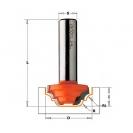 Профилен фрезер CMT D=19мм L=53мм R=2.4мм R1=2.4мм I=12 S=8 Z=2, HW, RH - small, 15688