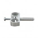 Скоба двустранна с дюбел FRIULSIDER 51502 ф16/8х25мм, пластмасова, 100бр. в кутия - small, 140149