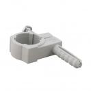 Скоба едностранна с дюбел FRIULSIDER 51500 ф12/5х20мм, пластмасова,  100бр. в кутия - small, 139494