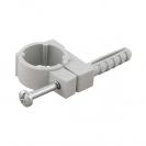 Скоба едностранна с дюбел FRIULSIDER 51500 ф12/5х20мм, пластмасова,  100бр. в кутия - small, 139495