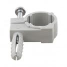 Скоба едностранна с дюбел FRIULSIDER 51500 ф12/5х20мм, пластмасова,  100бр. в кутия - small, 140565
