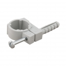 Скоба едностранна с дюбел FRIULSIDER 51500 ф18/8х30мм, пластмасова, 100бр. в кутия - small, 139501