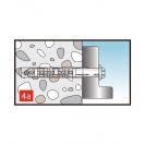 Дюбел с винт с шестостенна глава KEW RDD SK 10x100мм, захват за ключ 13мм, 50бр. в кутия, сертифициран - small, 138092