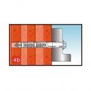 Дюбел с винт с шестостенна глава KEW RDD SK 10x100мм, захват за ключ 13мм, 50бр. в кутия, сертифициран - small, 138093