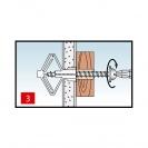 Дюбел за гипсокартон KEW KHD 10х50мм, 100бр. в кутия - small, 137848