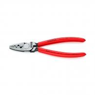 Клещи кербовъчни KNIPEX 0.25-16мм2, за изолирани кабелни накрайници, AWG 20-5, еднокомпонентни дръжки