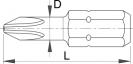 Накрайник кръстат UNIOR PZ 1x25мм, C6.3, CS - small, 17503