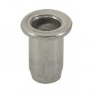 Нит гайка BRALO М5/L=12.0мм-Al, алуминиева с плоска периферия, 500бр. в кутия - small