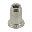 Нит гайка BRALO М6/L=14.5мм-Al, алуминиева с плоска периферия, 250бр. в кутия - small, 116873