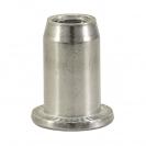 Нит гайка BRALO М6/L=14.5мм-Al, алуминиева с плоска периферия, 250бр. в кутия - small, 116874