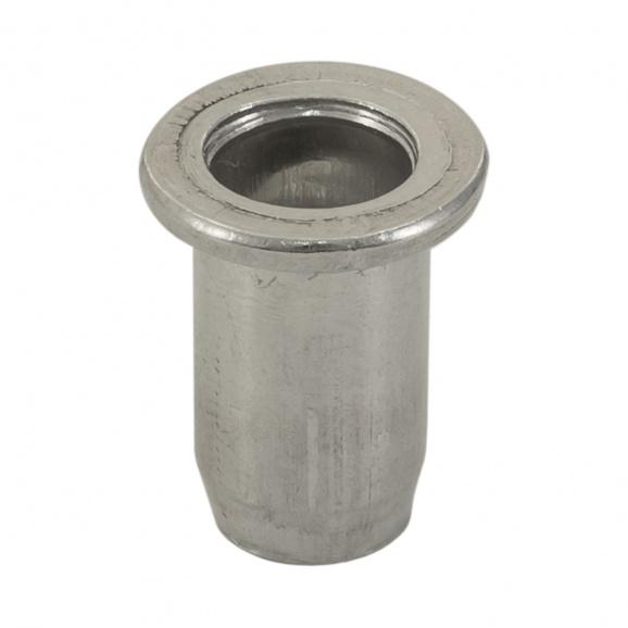 Нит гайка BRALO М6/L=14.5мм-Al, алуминиева с плоска периферия, 250бр. в кутия