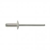 Попнит алуминиев BRALO DIN7337C 4.0x8/D12.0мм, широка периферия, 500бр. в кутия