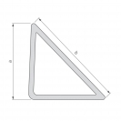 Профил за скосен ъгъл NEVOGA DREIKANTLEISTE 15, 2.5м, 15х15х21мм, в опаковка 100м - small, 151717