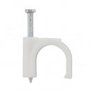 Скоба за кабели с пирон FRIULSIDER STC 51301 7-8мм, пластмасова, 300бр. в кутия - small