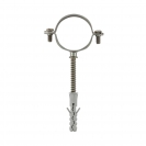 Скоба за тръби с шпилка и дюбел FRIULSIDER 50201 ф38мм, метална, 25бр. в кутия - small