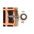 Скоба за тръби с шпилка и дюбел FRIULSIDER 50201 ф18мм, метална, 50бр. в кутия - small, 138502