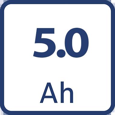 Капацитет на батерията 5.0Ah