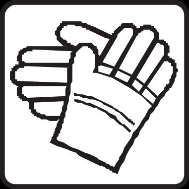 Носете защитни ръкавици