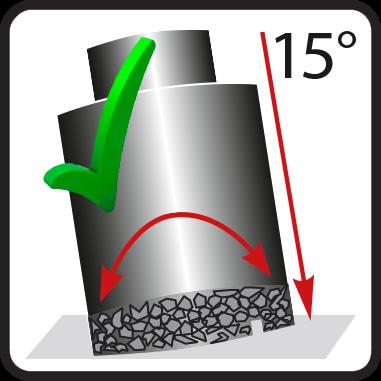 Пробиване под 15 градуса